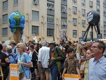 Osoba klimat Marzec Miasto Nowy Jork 2014 Zdjęcie Stock