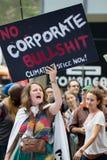 Osoba klimat Marzec NYC fotografia stock