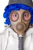 osoba maski gazowej Zdjęcie Stock