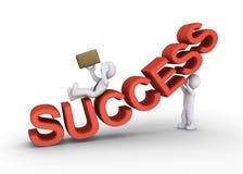 Osoba sabotuje sukces biznesmen Zdjęcia Stock