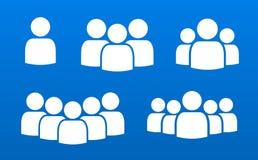 Osoba tłumu lider zespołu symbolu ikon ludzie ilustracji