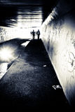 osoba tunel Obraz Royalty Free