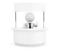 Osoba z Pustym promocja stojakiem Fotografia Royalty Free