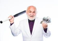 osobista ochrona biznesmen sukces Brutalny biznesowy życie Kant i napadać Czopu pojęcie Czarny gotówkowy pieniądze zdjęcie stock