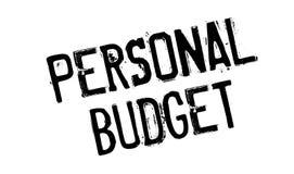 Osobistego budżeta pieczątka Zdjęcie Stock