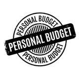 Osobistego budżeta pieczątka Zdjęcie Royalty Free