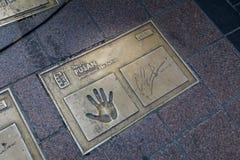 Osobistości (gwiazda filmowa) odcisk palca przy Busan Ekranowego festiwalu Międzynarodowym (BIFF) kwadratem w Dong, Gu Fotografia Royalty Free