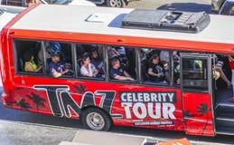 - 20, 2017 osobistości wycieczka turysyczna autobusem w Hollywood, LOS ANGELES, KALIFORNIA, KWIETNIU - Obraz Royalty Free