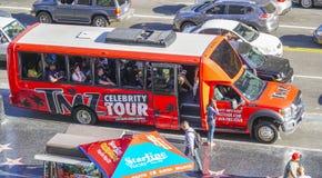 - 20, 2017 osobistości wycieczka turysyczna autobusem w Hollywood, LOS ANGELES, KALIFORNIA, KWIETNIU - Obrazy Stock