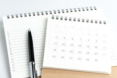 Osobisty coroczny robić listom lub przeciwowi nowego roku ` s planu lub postanowienia Fotografia Royalty Free