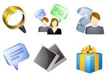 Osobisty gabinetowy ikona set Zdjęcie Stock