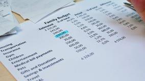 Osobisty miesięczny dochód i koszty zdjęcie wideo