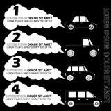 Osobisty samochodu i pustego miejsca dym Jako szablon Obrazy Royalty Free