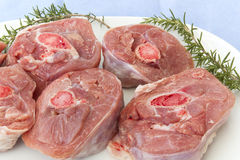 Osobuco turkey. Meat osobuco raw turkey to cook in the oven Stock Image