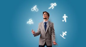 Osoby żonglerka z hobby pojęciem zdjęcie royalty free