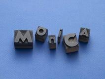 Osoby imię pisać z typefaces Obrazy Stock