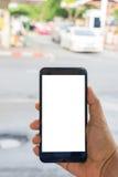 Osoby ręki mienia smartphone Obraz Royalty Free