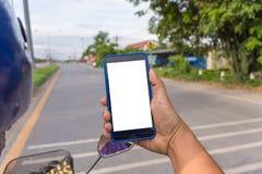 Osoby ręki mienia smartphone Zdjęcie Stock