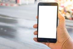 Osoby ręki mienia smartphone Obraz Stock