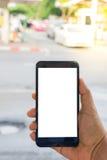 Osoby ręki mienia smartphone Obrazy Stock