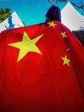 Osoby republika Chiny flaga Fotografia Stock