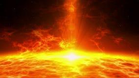 Osocze sprawy erupcja nad słońce powierzchnią royalty ilustracja
