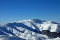 从Osogovo的保加利亚边的Ruen峰顶 免版税库存照片