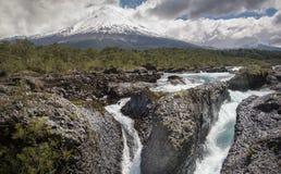 Osorno Volcano and the Petrohue River Royalty Free Stock Image