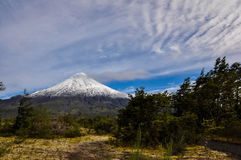 Osorno Volcano viewed from Lago Todos Los Santos, Chile Stock Images