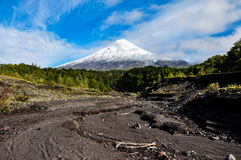Osorno Volcano viewed from Lago Todos Los Santos, Chile Royalty Free Stock Photography