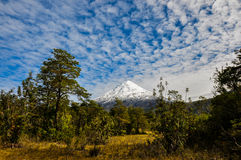 Osorno Volcano viewed from Lago Todos Los Santos, Chile Stock Image