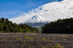 Osorno Volcano viewed from Lago Todos Los Santos, Chile Stock Photos