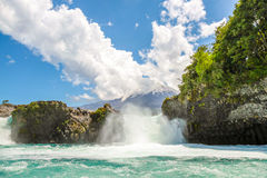 Osorno waterfall royalty free stock photography
