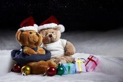 Osos de la Navidad Fotos de archivo