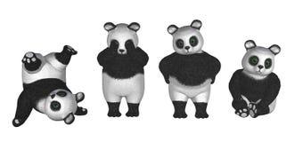 Osos de la panda Imagenes de archivo