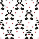 Osos de panda inconsútiles Foto de archivo libre de regalías