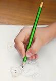 Osos de peluche del dibujo del niño Imagen de archivo libre de regalías