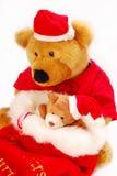 Osos del peluche como regalo de la Navidad Fotografía de archivo libre de regalías