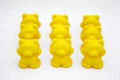 Osos plásticos del juguete imagen de archivo libre de regalías