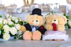 Osos Wedding Imagen de archivo