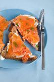 łososiowa kanapka Zdjęcie Royalty Free