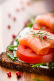 łososiowa kanapka Fotografia Stock