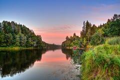 Łososiowa rzeka Obraz Royalty Free