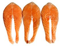 łososiowi steki Zdjęcie Stock