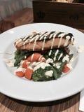 Łososiowy brzuch z veggies Fotografia Stock