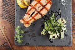 Łososiowy Rybi stek Zdjęcie Royalty Free