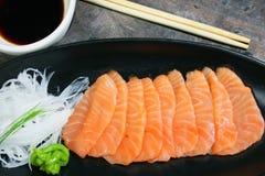 łososiowy seshimi Obraz Royalty Free