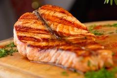 łososiowy stek Fotografia Royalty Free