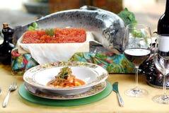 Łososiowy stek Zdjęcia Royalty Free