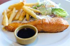 Łososiowy stek obraz stock